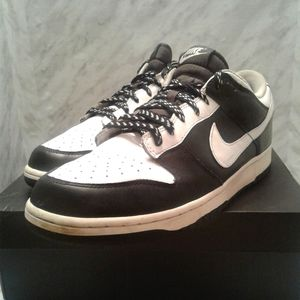 Nike Dunk Low Leather 2009 Black White Midnight 13